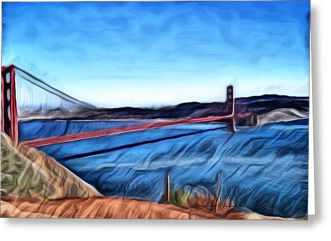 Windy Day At Golden Gate Bridge Greeting Card