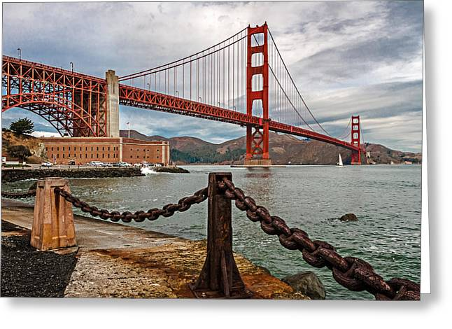 Golden Gate Bridge And Fort Point Greeting Card