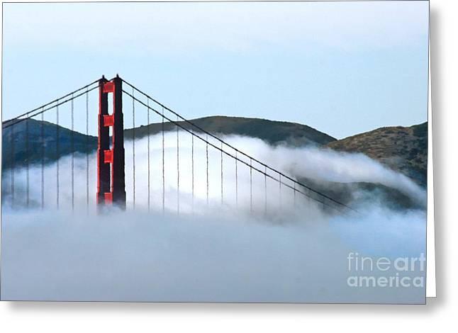 Golden Gate Bridge Clouds Greeting Card