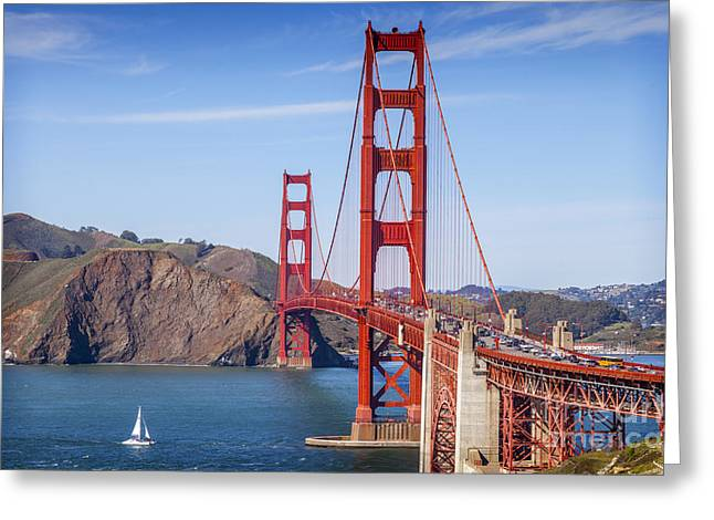 Golden Gate Bridge Greeting Card by Colin and Linda McKie