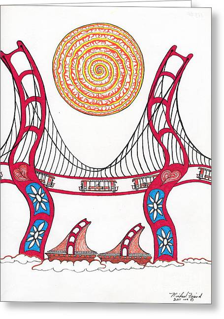 Golden Gate Bridge Dancing In The Wind Greeting Card
