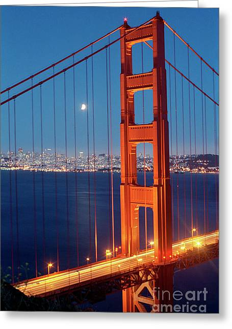 Golden Gate Bridge Greeting Card by Heidi Hermes