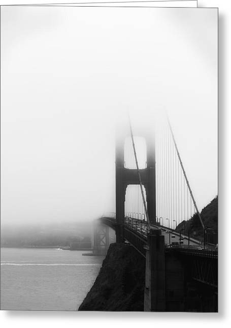 Golden Gate Bridge In Fog ... Sausalito Side Greeting Card