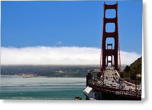 Golden Gate Bridge Looking South Greeting Card by RicardMN Photography