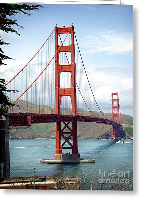 Golden Gate Bridge Greeting Card by Michael Edwards