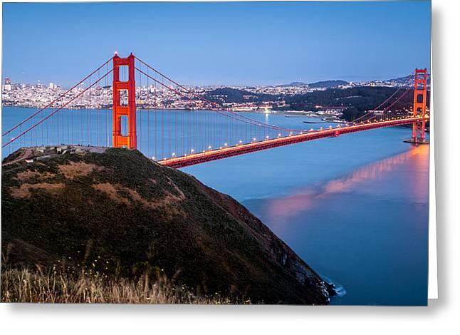 Golden Gate Bridge Greeting Card by Mihai Andritoiu