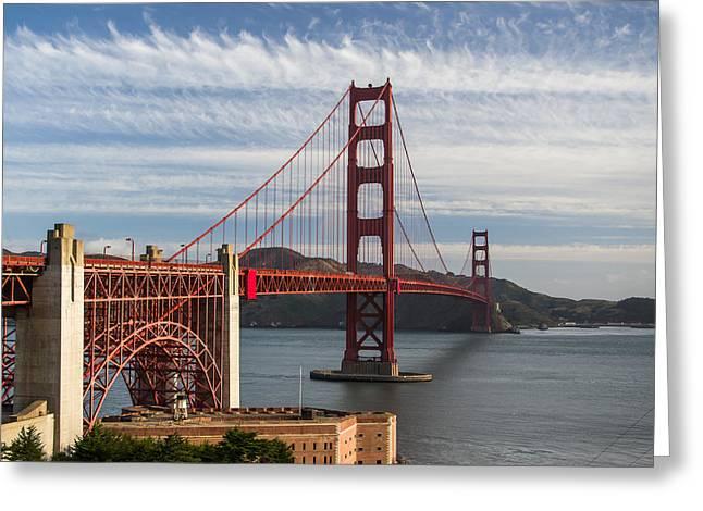 Golden Gate Bridge Morning Light Greeting Card