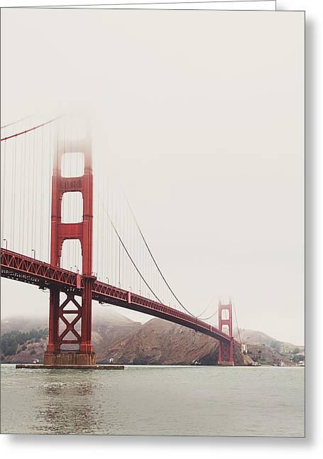 Golden Gate Bridge Greeting Card by Nastasia Cook