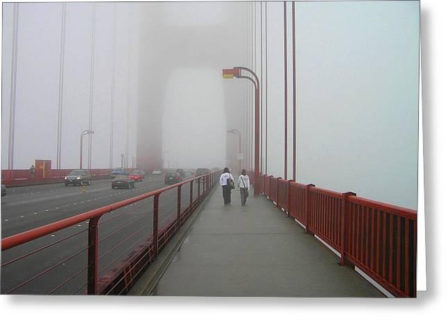 G. G. Bridge Walking Greeting Card by Oleg Zavarzin