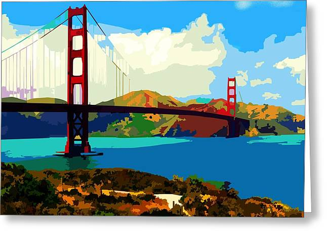 Golden Gate Bridge Greeting Card by P Dwain Morris