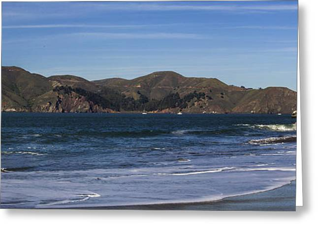 Golden Gate Bridge Panorama Greeting Card by Brad Scott