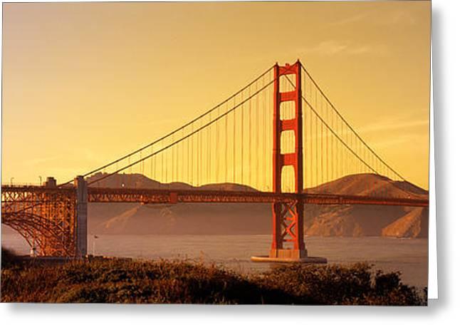 Golden Gate Bridge San Francisco Ca Usa Greeting Card by Panoramic Images