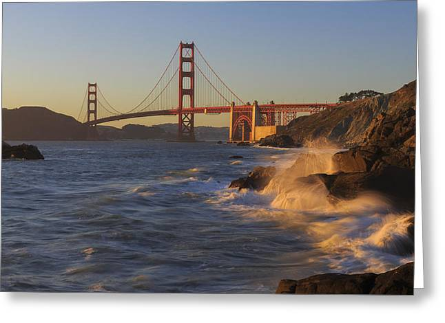 Golden Gate Bridge Sunset Study 3 Greeting Card by Scott Campbell