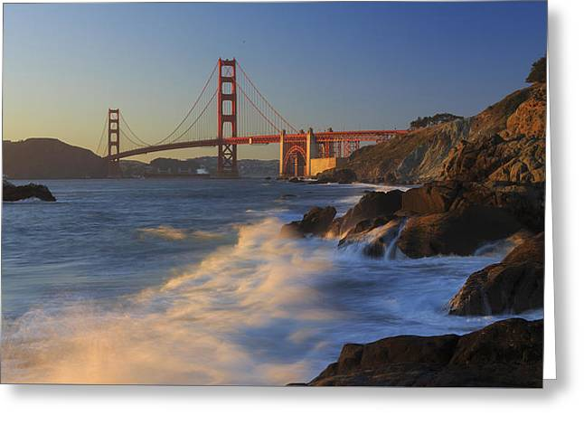 Golden Gate Bridge Sunset Study 4 Greeting Card by Scott Campbell