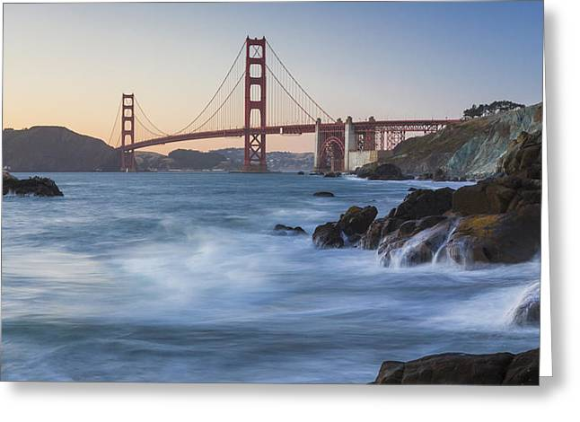 Golden Gate Bridge Sunset Study 6 Greeting Card by Scott Campbell