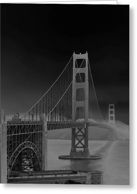 Golden Gate Bridge To Sausalito Greeting Card by Connie Fox