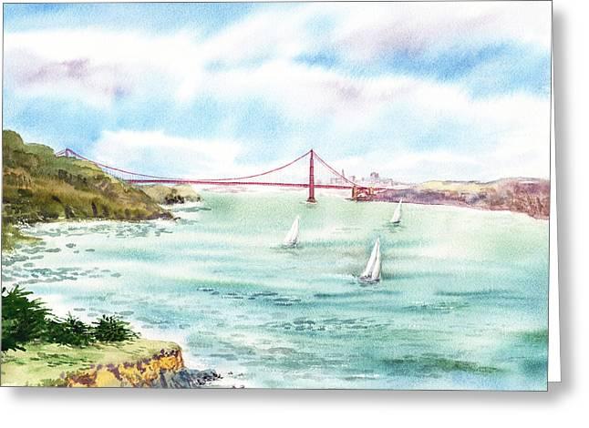 Golden Gate Bridge View From Point Bonita Greeting Card