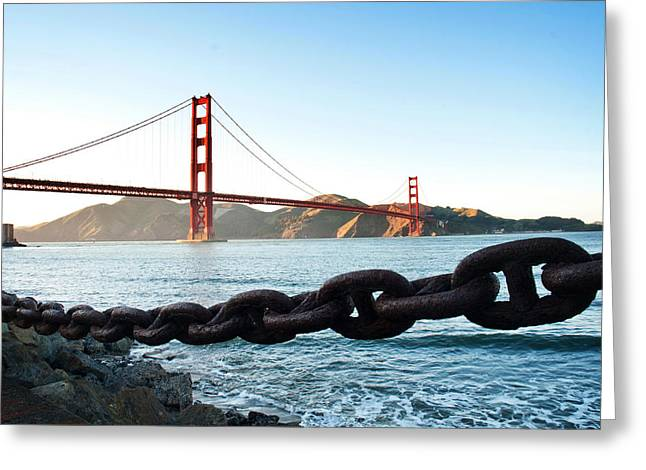 Golden Gate Bridge With Chain Greeting Card