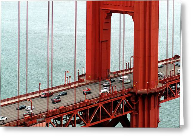 Golden Gate Bridge Greeting Card by Yue Wang