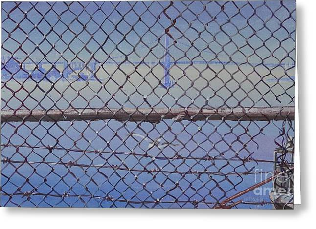 Golden Gate From Alcatraz Greeting Card by Marco Ippaso