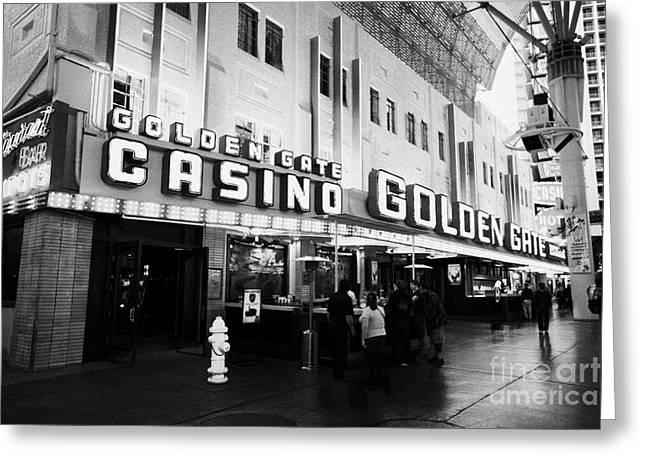 golden gate hotel and casino Las Vegas Nevada USA Greeting Card