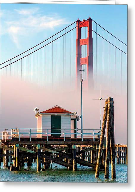 Golden Gate In The Fog II Greeting Card