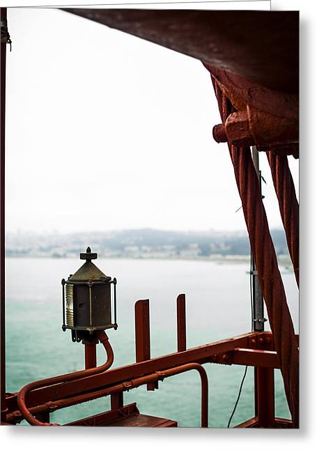 Golden Gate Lantern Greeting Card by SFPhotoStore