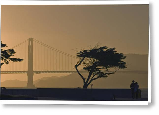 Golden Gate Lovers Greeting Card
