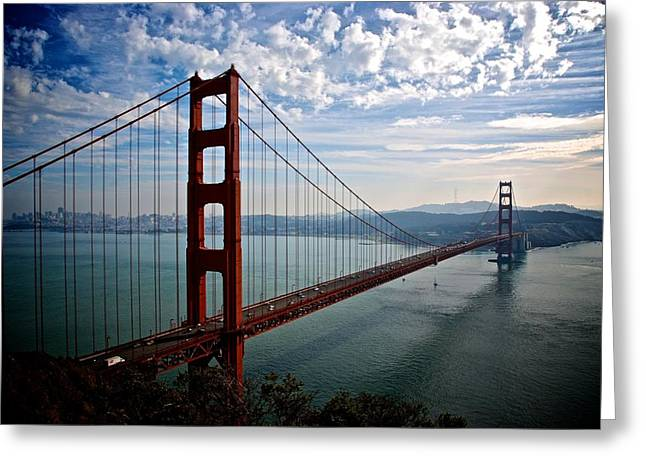 Golden Gate Open Greeting Card by Eric Tressler