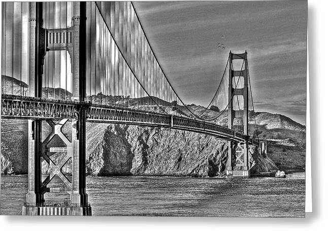 Golden Gate Over The Bay 2 Greeting Card