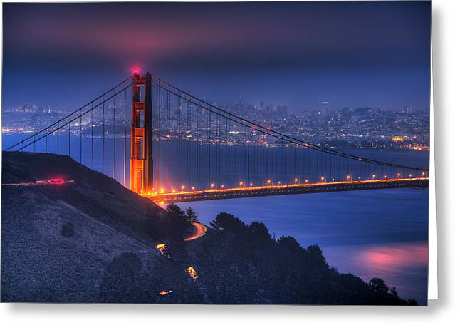 Golden Gate Twilight Greeting Card