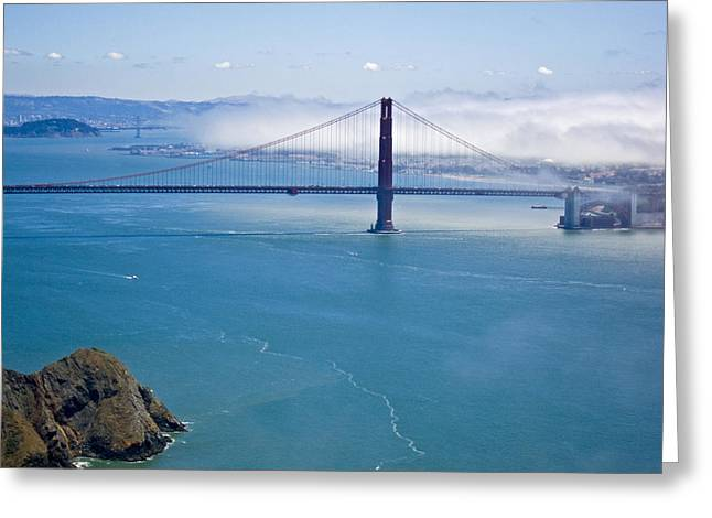 Golden Gate View Greeting Card