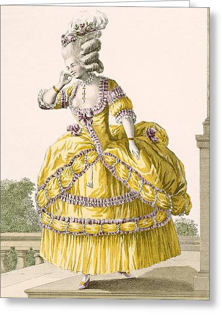 Golden Gown, Engraved By Dupin, Plate Greeting Card