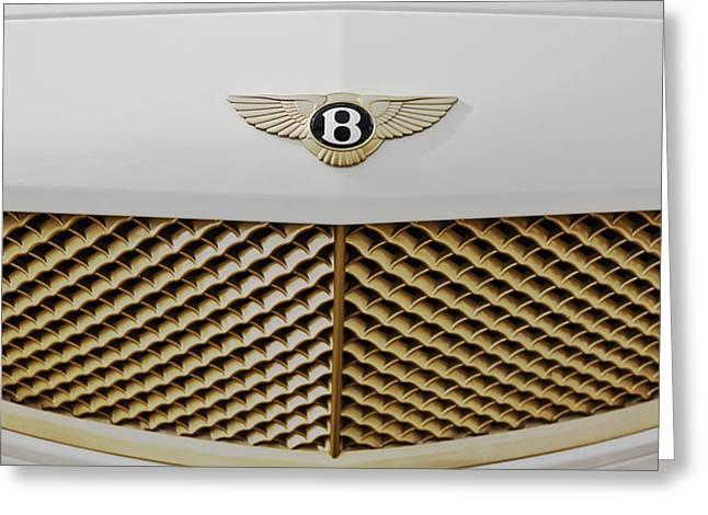 Golden Grill Bentley Greeting Card by Maj Seda