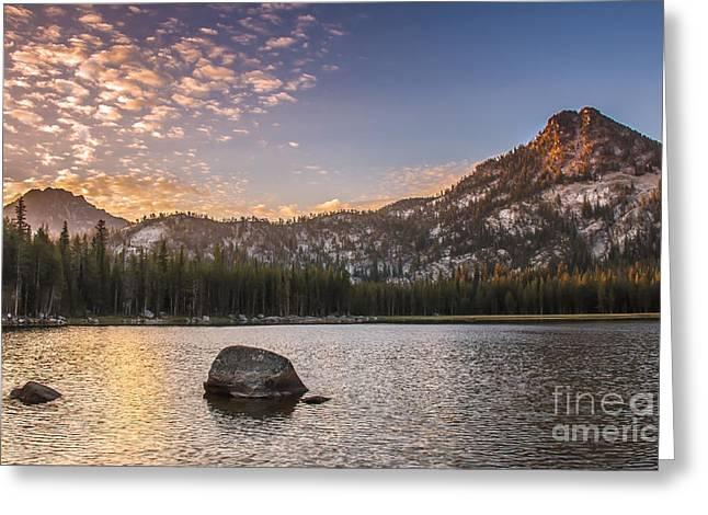 Golden Gunsight Peak Greeting Card by Robert Bales