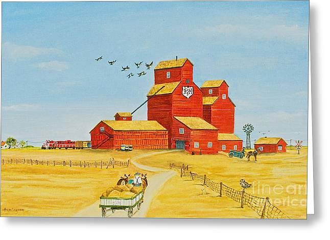 Golden Harvest Greeting Card by Virginia Ann Hemingson