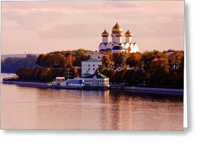Golden Hour. Yaroslavl. Russia Greeting Card by Jenny Rainbow