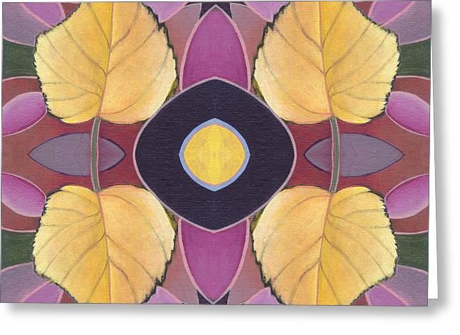 Golden I - The Joy Of Design X X I V Arrangement Greeting Card by Helena Tiainen