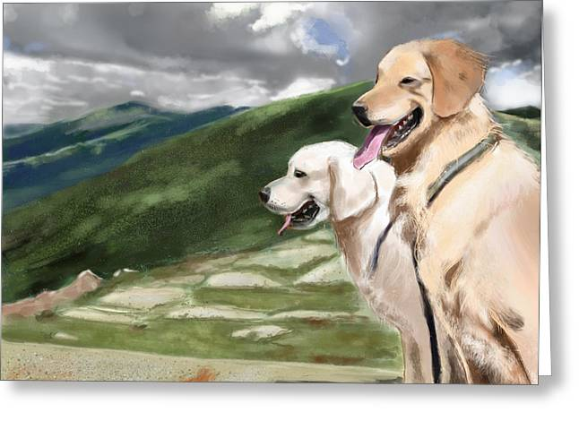Golden Lab Greeting Card