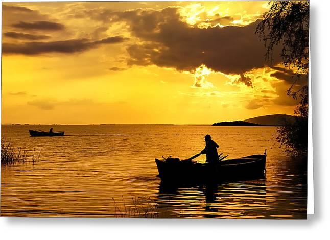 Golden Lake - 3 Greeting Card