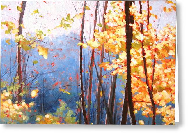 Golden Leaves Greeting Card by Carlynne Hershberger