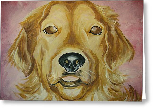 Greeting Card featuring the painting Golden by Leslie Manley