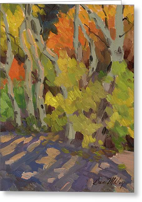 Golden Light And Shadow Greeting Card by Diane McClary