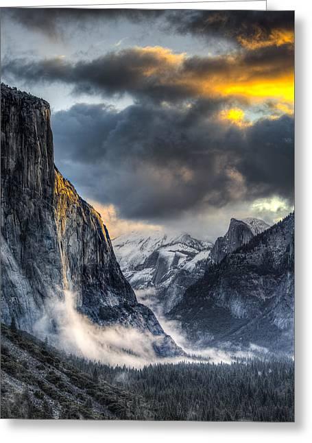 Golden Light On El Capitan Greeting Card
