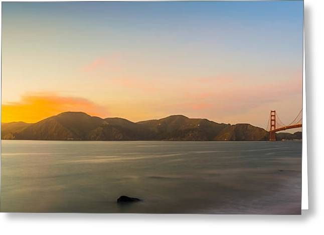Golden Light Greeting Card by Peter Irwindale