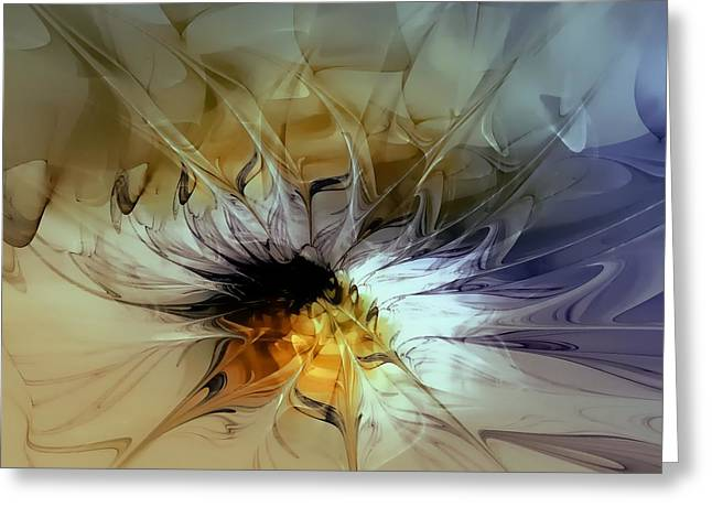 Golden Lily Greeting Card by Amanda Moore