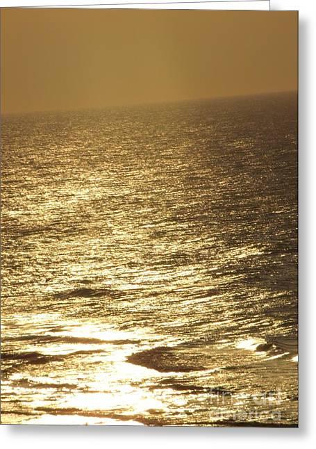 Golden Moonlight Or Moon Surface Greeting Card by Gail Matthews
