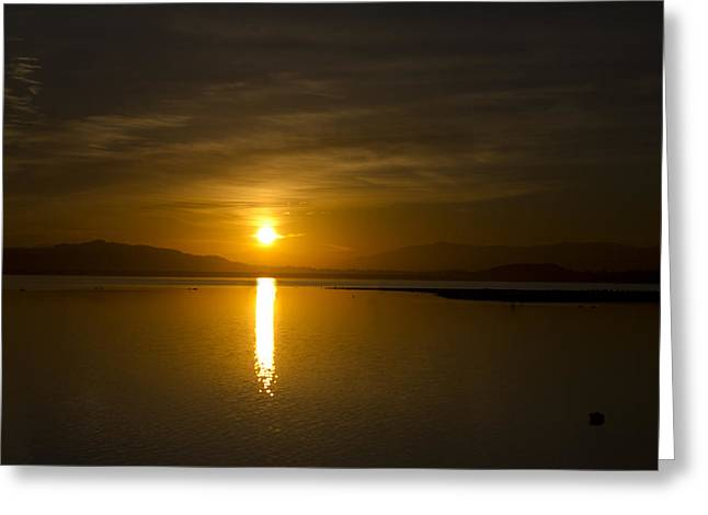 Greeting Card featuring the photograph Golden Morn by Richard Stephen