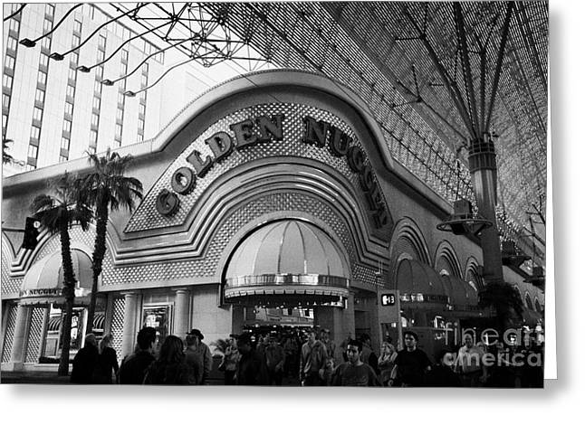 golden nugget casino hotel in freemont street Las Vegas Nevada USA Greeting Card