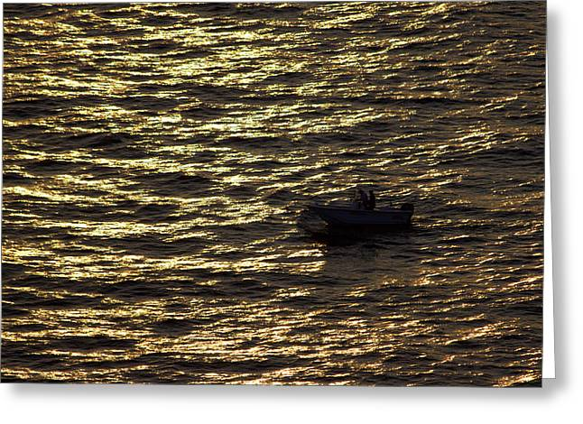 Greeting Card featuring the photograph Golden Ocean by Miroslava Jurcik